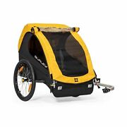 Burley Bee 1 And 2 Seat Lightweight Kid Bike-only Trailer Yellow