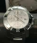 Baume And Mercier Copeland Chronograph 65366 41mm Swiss Automatic 200m White Dial