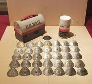 Vintage Usps Letter Carrier Badge1-1888 1940and039s Badge 1-35 Lunch Box And Thermos