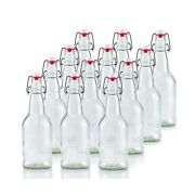 Ilyapa 16 Ounce Clear Swing Top Glass Beer Bottles For Home Brewing - Carbona...