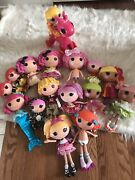 Lalaloopsy Dolls Lot 16 Dolls Most Full Size Clothes, Shoes, Accessories And Horse