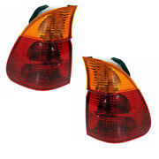 For 04-06 Bmw X5 Outer Taillight Taillamp Rear Brake Light Stop Lamp Set Pair