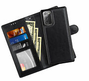 Wallet Case For Samsung Galaxy Note 20 5g Premium Pu Leather Case 2 In
