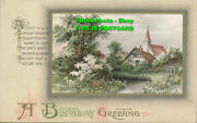 R048777 A Birthday Greeting. Canal And Houses. Wildt And Kray. 1913