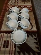 13 Piece Pyrex Double Tough Teacups And Saucers By Corning Decor Dinnerware