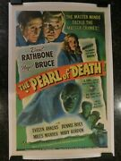 The Pearl Of Death Original 1944 Movie Poster 27x41 C8.5 Very Fine/near Mint