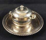 Silver Plate Wm Rogers Round Tray And Serving Bowl