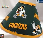 Nfl Green Bay Packers Disney Mickey Mouse Lamp Shade - 8 Sizes - Free Shipping