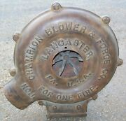 Champion Blower And Forge Co. Blower No. 1 Electric