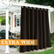 Ryb Home Outdoor Patio Curtains - Farmhouse Blackout Curtains Windproof Water Re