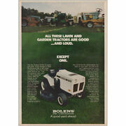 1973 Bolens All These Lawn And Garden Tractors Are Good Vintage Print Ad