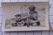 Florida Southern Railroad Engine 21 1917 Cutler Fl Vintage Train Photo