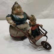 The Powerful Katrinka- Fontaine Fox-1923-toonerville Windup Tin Toy. Works Well