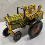 Vintage Marx Wind Up Jumpin Jeep Toy, Working. Nice Piece. See All Picks. Wow.