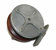 Vintage Wood And Alloy Nottingham Reel With Alloy Starback And Twin Handles