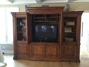 Used Hooker Tv Entertainment Center With Bookcase Cabinet Furniture 3 Pc Unit