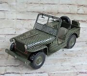 High Quality Metal Diecast Jeep Model Car Antique Toy Car For Collection Home Nr