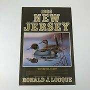 1986 New Jersey Waterfowl Stamp Poster Ronald J. Louque 16 X 24 Unframed