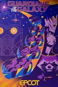 Epcot Guardians Of The Galaxy Serigraph Poster Le 90/100 Disney Parks Limited