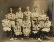 Cabinet Card Type Photo Handsome Young Men Sports Team Muscular Gay Interest