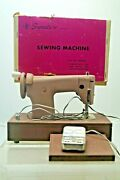 Vintage 1960s Signature Junior Battery Operated Toy Sewing Machine W/box And Paper