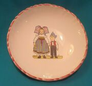 Hansi Signed Mark Elchinger Boy And Girl Holding Hands Design 6and039and039 Bowl/dish