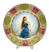 Royal Vienna Austria Hand Painted Porcelain Cabinet Plate Veiled Beauty Signed