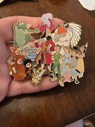 Disney Auction Le100 Peter Pan Cast Jumbo Pin Read Smee Tiger Lily Wendy