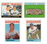 1964 Topps Baseball Semi-high Lot. 13 Different. Very Nice Cards