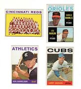 1964 Topps Baseball Semi-high Lot. 22 Different. Mostly Very Nice Cards