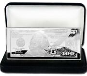 Discounted 1934 10000 4oz Currency Unc Silver Bar + Velvet Gift Box + Coa