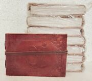 Leather Journal Handmade Vintage Design Diary Blank Notebook Notepad Lot Of 8