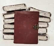 Leather Journal Handmade Vintage Tree Face Diary 1 Lock Blank Notebook Lot Of 12