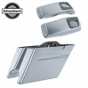 Brilliant Silver Stretched Saddlebag Pinstripes 6x9and039and039 Speaker Lids F/ 14+ Harley