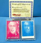 Topps Vault Shock Theater Hammer Horror Dracula Color Separation Proofs W/coa
