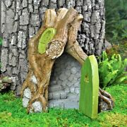 Miniature Fairy Garden Fairy Root House W Hinged Door And Stairway Gnome Go 17262
