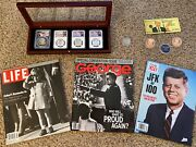 Jfk/jr/trump 13-pc Collectiblesjfkgeorge Convention Cover Aug 2000 Coins.-new