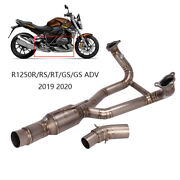 51mm Motorcycle Titanium Exhaust System For Bmw R1250gs R1250r/rt/rs 2019 2020