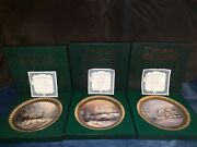 3 Thomas Kinkade Christmas Collector Plates With Boxes And Certificates