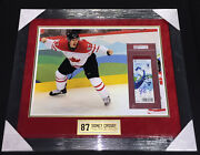 Sidney Crosby Signed And Framed 2010 Olympics Ticket And Photo Psa/dna Size 29x25