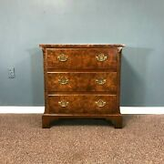 Baker Furniture Chinese Chippendale Style Mahogany And Burl Bachelor Chest