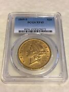 1869-s Xf45 Pcgs Liberty Double Eagle 20 Gold Coin Very Good Eye Appeal