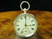 Thomas Peter Hewitt 925 Sterling Silver Open Face Spindle Watch