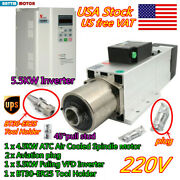 〖usa〗 4.5kw Bt30 Automatic Tool Changer Atc Air Cooled Spindle W/ 5.5kw Vfd 220v