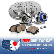 Front Brake Rotors Hub Bearings Pads For Buick Lucerne Chevy Impala Monte Carlo