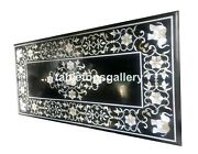 5and039x3and039 Marble Dining Table Top Mother Of Pearl Floral And Elephant Inlay Decor B078