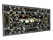 5and039x3and039 Marble Dining Table Top Gemstone Fruits And Bird Inlay Restaurant Decor B096