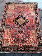 1910 - 1920 Antique Sarouk Small Rug Full Pile Great Colors 4and0398 X 3and0391