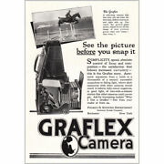 1918 Graflex Camera See The Picture Before You Snap It Vintage Print Ad