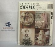Ri Mccall's 6726 Sew Pattern A Victorian Christmas Lace Wreath Stockings Decor